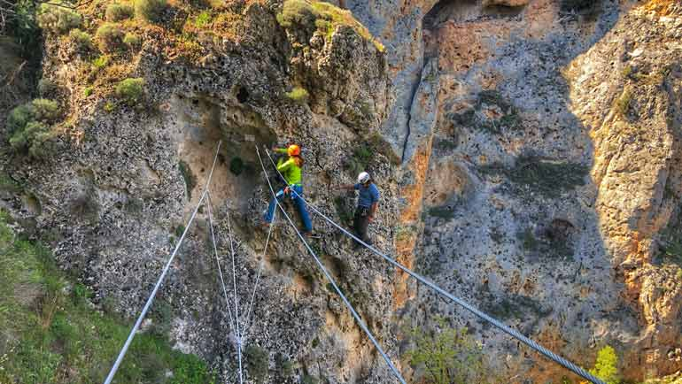 via ferrata cerca de madrid en cuenca